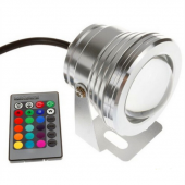 10W 12V RGB LED Underwater Light 1000LM Lamp IP68 Waterproof