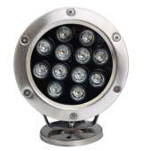 12V 24V 12W IP68 Waterproof LED Underwater Light 1200LM Lamp