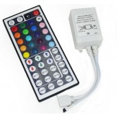 44-Key LED RGB Controller with IR Remote Control for RGB LED Strips 4pcs