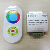 5 Keys Touch Remote Aluminum Box RGB full color RF controller