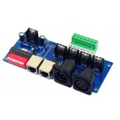 DC 12V 24V 4 channels 4A with RJ45 DMX512 Decoder controller DMX-NET-K-4CH-BAN