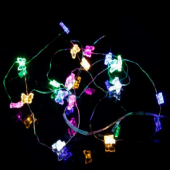 Colorful Butterfly 7ft 2M 20 LED Copper Wire String Fariy Light Battery Powered 5pcs