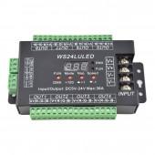 24CH Easy DMX512 RGB Decoder Dimmer Controller DC 5V-24V WS24LULED