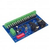 DMX512 18CH Controller Decoder DC 12V 24V WS-DMX-18CH-RJ45