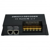 DMX512 Decoder Controller for RGBW RGB Light Dimmer Driver 12V 24V 30A 3 Channel