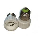 E27 to GU10 Adapter Converter ABS Led Lamp Bases GU10 Socket 10pcs