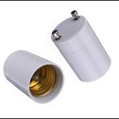 GU24 To E27 E26 Light Base Bulb Lamp Holder Adapter Converter Screw Socket 5pcs