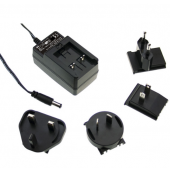 Mean Well GE12 12W AC-DC Interchangeable Industrial Adaptor Power Supply