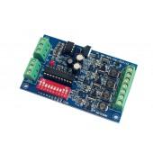 4CH RGB 350ma DMX512 decoder led controller dimmer DC12V-36V WS-DMX-CHL-4CH-HV-350MA