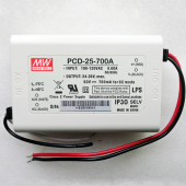 PCD-25 Series Mean Well 25W AC Dimmable LED Power Supply Driver