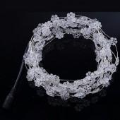 Snowflake Shape Fairy Light Snow White 33ft 10M 100 LED Copper String 12V
