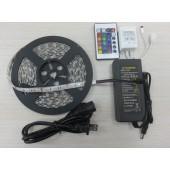 RGB LED Strip Lighting Full Kit SMD 5050 5M 300LEDs Waterproof Light