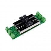 Single Color LED Strip Dimmer 12-24v Sliding Switch 3 Channel Dimmer LN-HDIMMER-3CH-LV
