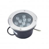 9W LED Underground Light Waterproof Outdoor Spotlight Landscape Lamp