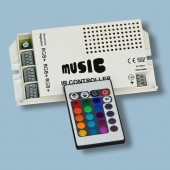 White Music Sound Controller IR Remote RGB LED Light Controller
