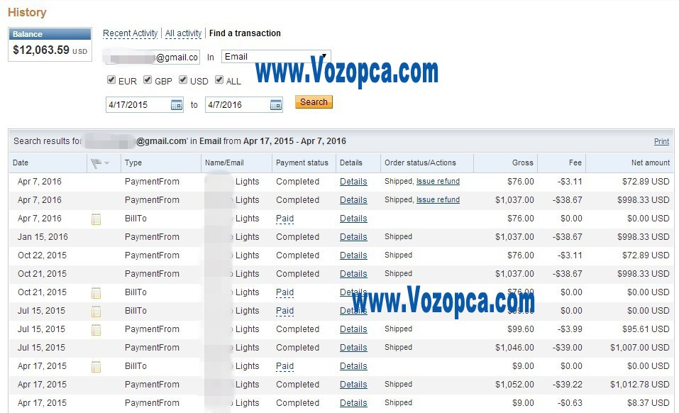 vozopca_paypal_payments_royal_customers_repeat_purchase_online_led_products_factory_price