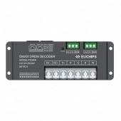 12v 24v 8a 4ch dmx512 RDM rgbw Euchips Controller Decoder PX0408