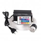16W RGBW 0.75mm+1.0mm+1.5mm+ crystal Mix LED Fiber optic Star Ceiling RF Control lighting Kit