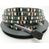 Black PCB 5M 300 LEDs Waterproof RGB 5050 DC 12V LED Strip Light