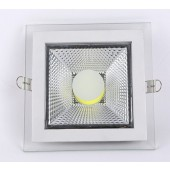 Glass COB LED Panel Light 5W 10W 15W 25W Downlight Recessed Ceiling Spot Down Lamp