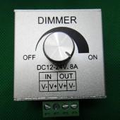 LED Strip Light Dimmer Controller 12V 24V 8A Rotary Knob Aluminium Casing