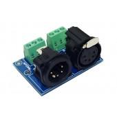 DMX512 Relays connector 5 pin XLR 3P to 5 core XLR Controller XLR5-3P