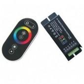RF Remote Steel Case 8 Keys Touch RGB LED Controller 12V 24V