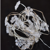 White Snowflake 7ft 2M 20 LED Copper Wire String Fariy Light Battery Powered 5pcs